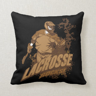 Lacrosse Rocks! Throw Pillow