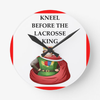 lacrosse round clock