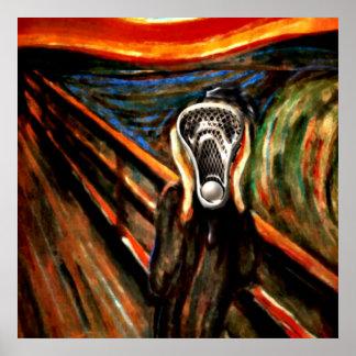 Lacrosse Scream Poster
