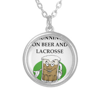 LACROSSE SILVER PLATED NECKLACE