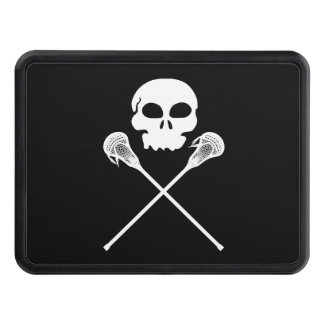 Lacrosse Skull Crossed Sticks Trailer Hitch Cover