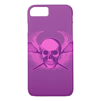 Lacrosse Skull iPhone 7 case - Purple and Pink