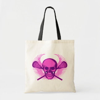Lacrosse Skull - Purple Tote Bag