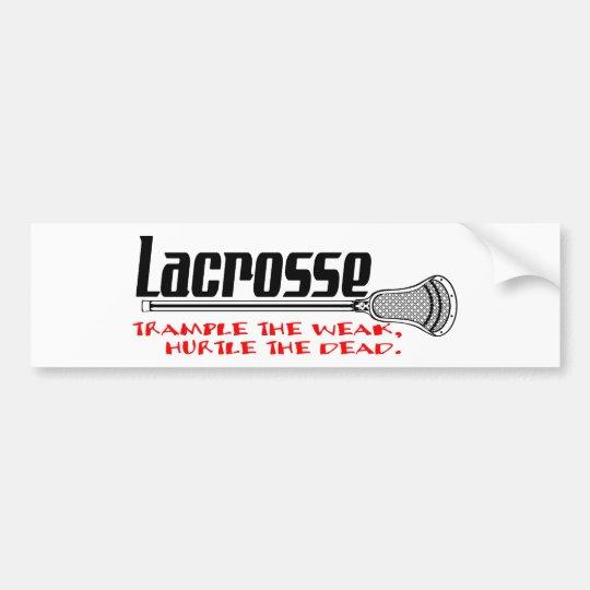 Lacrosse Smack Weak Bumper Sticker