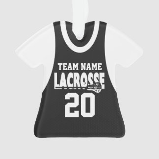 Lacrosse Sports Jersey Black with Photo