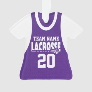 Lacrosse Sports Jersey Purple with Photo
