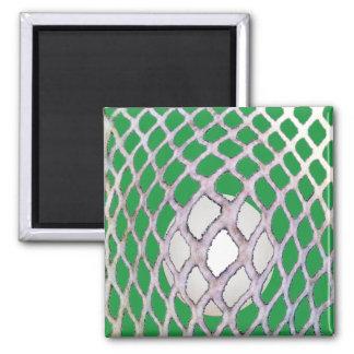 Lacrosse Square Magnet