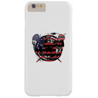 Lacrosse Stick American Flag Gifts Barely There iPhone 6 Plus Case