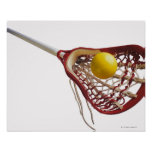 Lacrosse stick and ball poster
