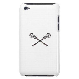 Lacrosse Stick Woodcut Case-Mate iPod Touch Case