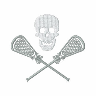 Lacrosse Sticks and Skull Embroidered T-Shirt
