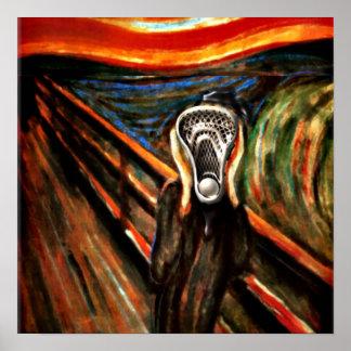 Lacrosse Team Scream Poster