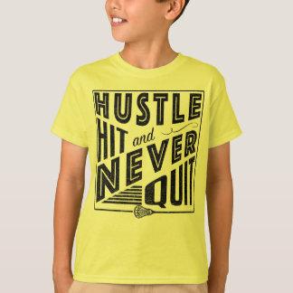Lacrosse Tee, Hustle Hit Never Quit T-Shirt