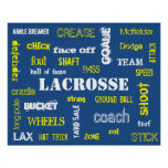 Lacrosse Terminology Poster! Poster