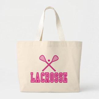 Lacrosse Tote Bags (pink)