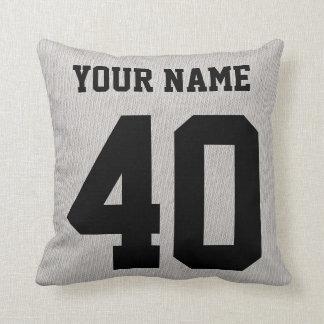 Lacrosse Typography Design Customizable Pillow