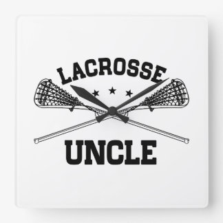 Lacrosse Uncle Square Wall Clock