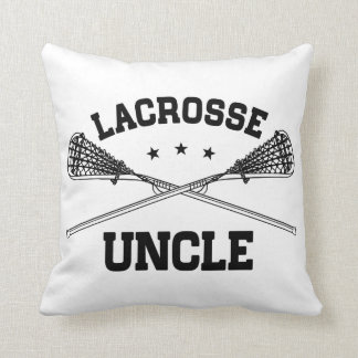Lacrosse Uncle Throw Pillow
