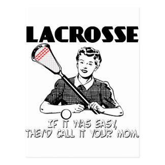 Lacrosse Your Mom Postcard