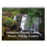 Lacs whatcom County, rivières, étangs, criques Calendriers