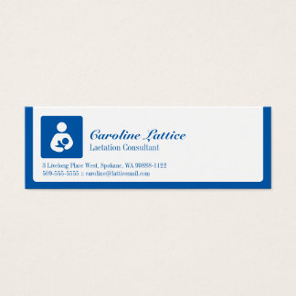 Lactation Consultant Mini Business Card