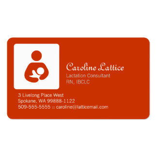 Lactation Consultant Pack Of Standard Business Cards