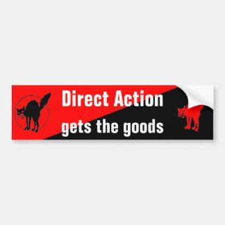l'action directe obtient le bumpersticker de march autocollant de voiture