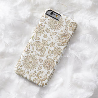 Lacy Floral Pattern Gold iPhone 6 Case