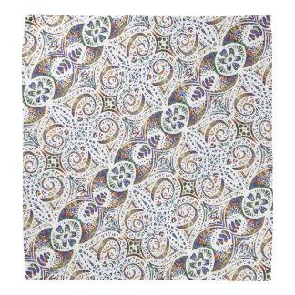 Lacy Floral Pattern Head Kerchiefs