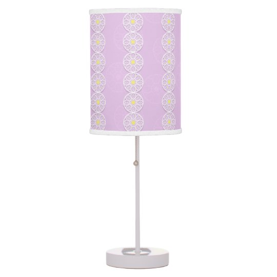 Lacy Flower Pattern Pink Lamp