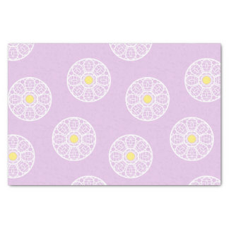Lacy Flower Pattern Pink Tissue Paper