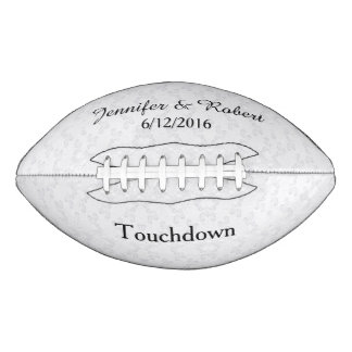 Lacy Look Wedding Custom Football