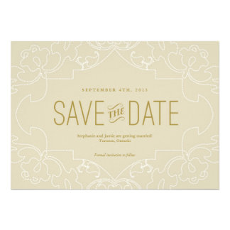 Lacy Save the Date Personalized Invitation