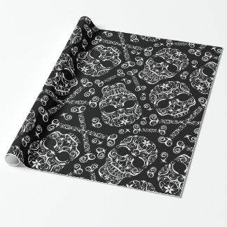Lacy Skull & Bones Pattern Wrapping Paper I