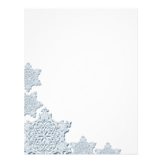 Lacy Snowflake Letterhead