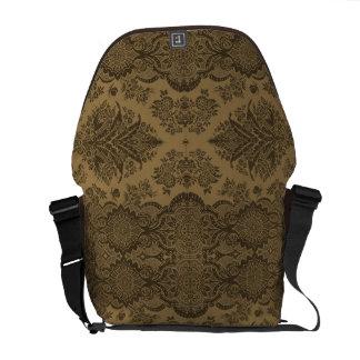 Lacy Vintage Floral in Brown Commuter Bag