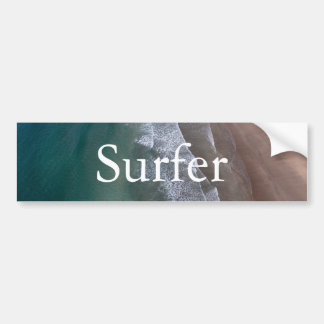 Lacy Waves Whitesands Bay Wales Bumper Sticker