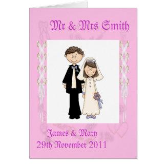 Lacy Wedding Card