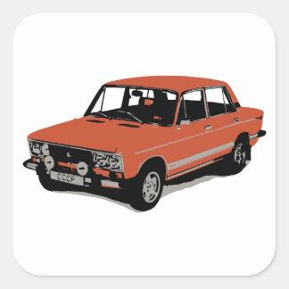 Lada - The Soviet Russian Car Square Sticker