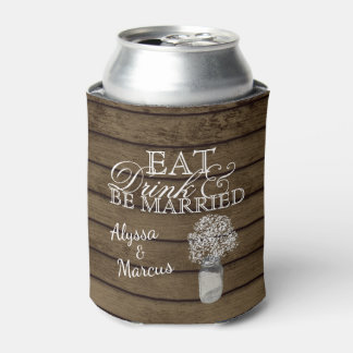 Ladder and Baby's Breath Rustic Wedding Can Cooler