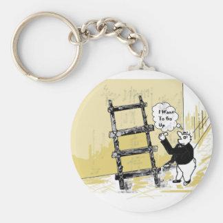 Ladder Basic Round Button Keychain