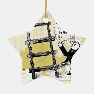 Ladder Ceramic Star Ornament