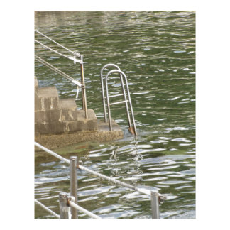 Ladder descending into the sea water customized letterhead