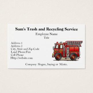 Ladder Fire Truck Business Card