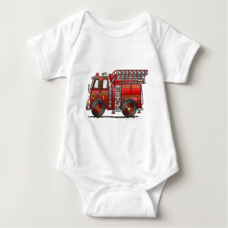 Ladder Fire Truck Firefighter Baby Bodysuit