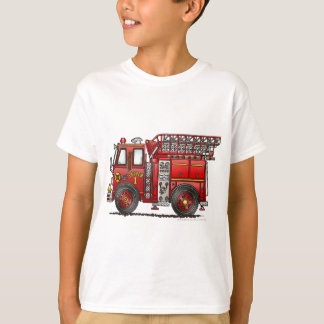 Ladder Fire Truck Firefighter Tshirts