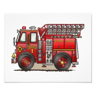 Ladder Fire Truck Photograph