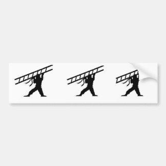 ladder ninja 3-up bumper sticker