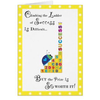 Ladder of Success Greeting Card