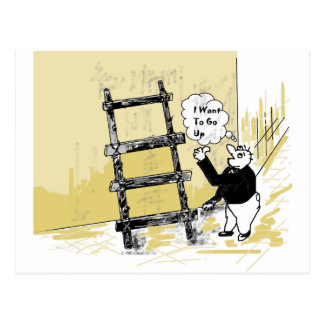 Ladder Postcard